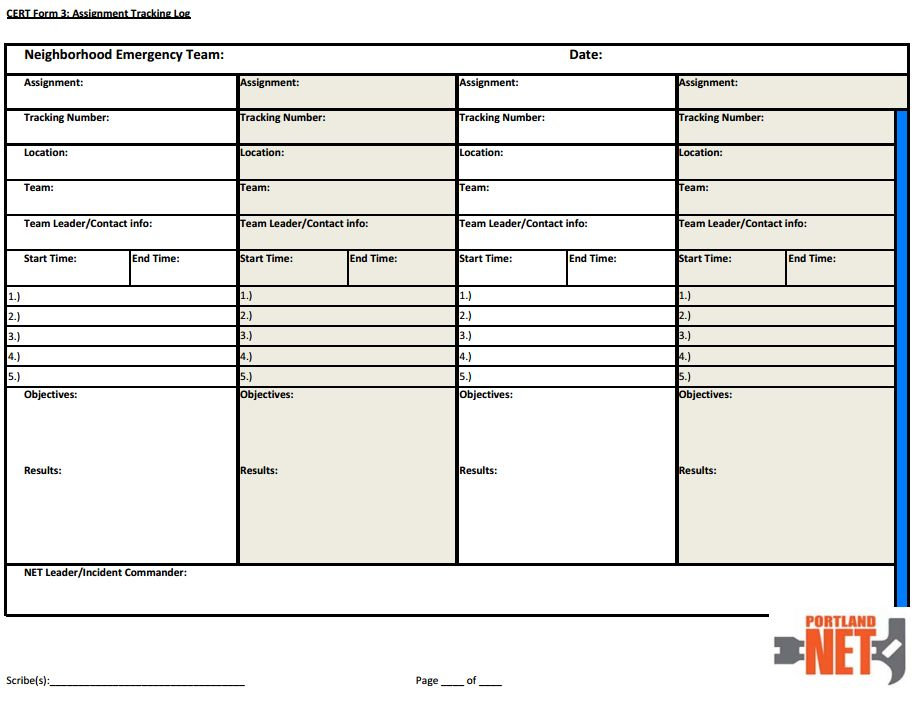 Form 3 Assignment Tracking Log: Fire Watch Log Sheet Forms At Alzheimers-prions.com