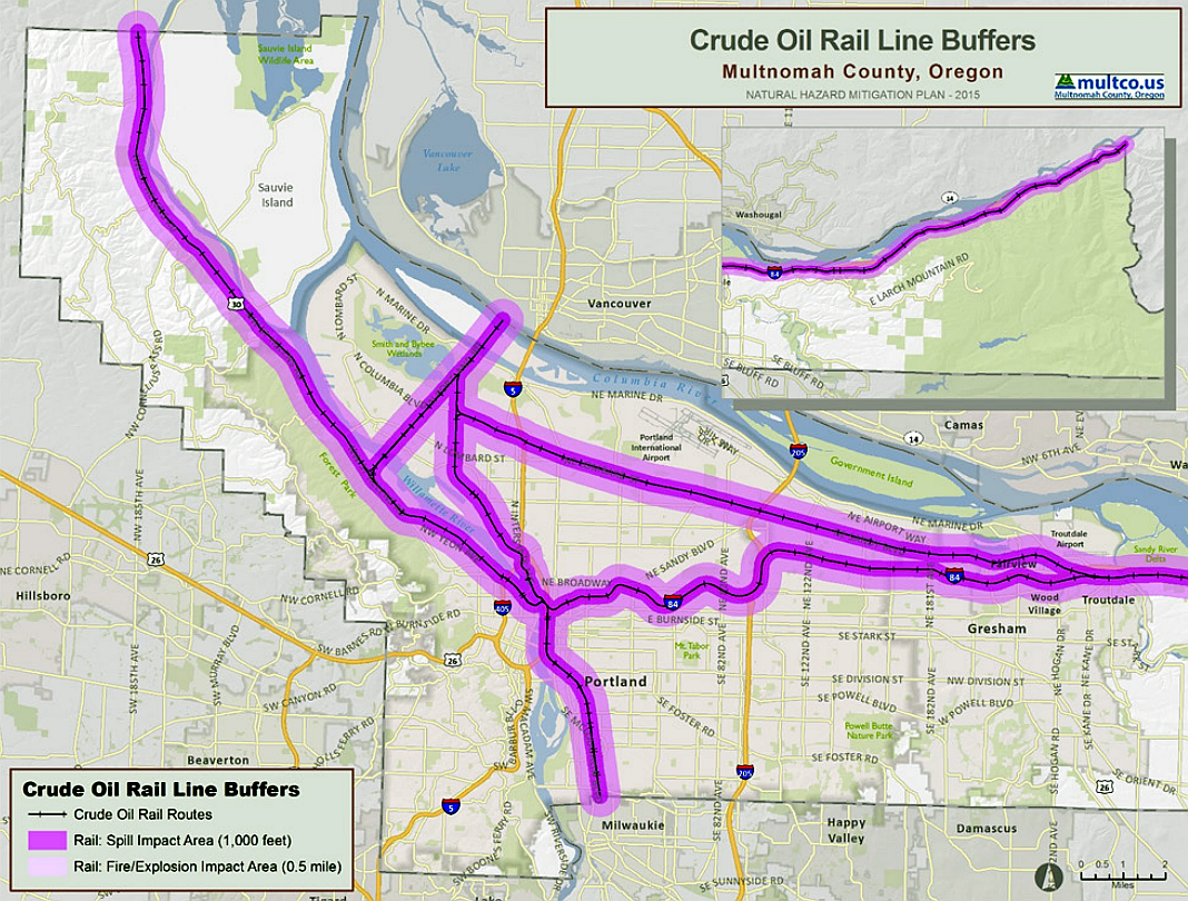 The Oregon Fire Marshall Recommends That In The Event Of A Large Oil Train Incident Spill Downwind Evacuation Should Be At Least 1 000 Feet And If The Car